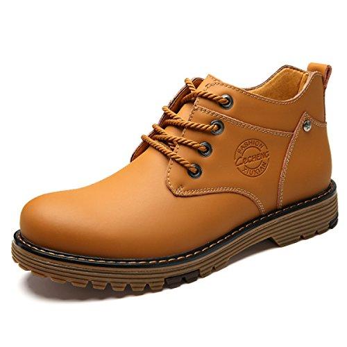Herbst Und Winter Hoch Zu Helfen Männer Stiefel Koreanische Version Tooling Stiefel Martin Stiefel Herren Stiefel Lightbrown