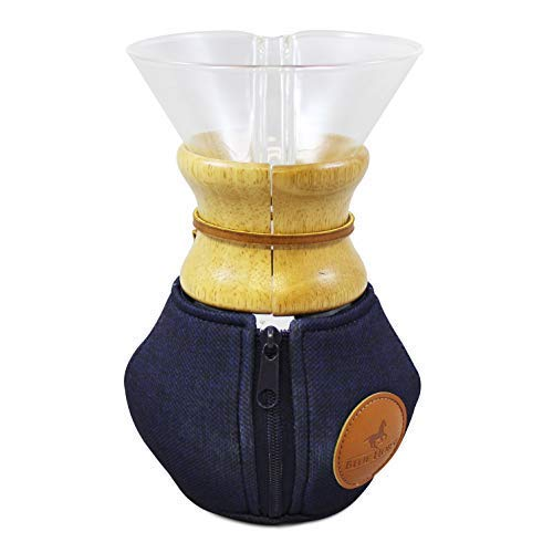 Blue Horse Cozy for Chemex Coffee Maker (6-Cup Wood Collar) ()