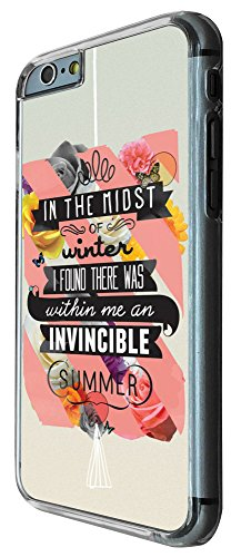 336 -christian quote in the midst of winter i found there was within me an invincible summer Design iphone 6 6S 4.7'' Coque Fashion Trend Case Coque Protection Cover plastique et métal
