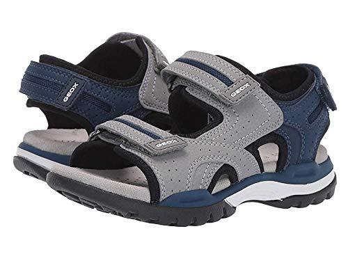 Geox Boys' J Borealis D Open Toe Sandals, Grey (Grey/Blue C0244), Child 13 UK