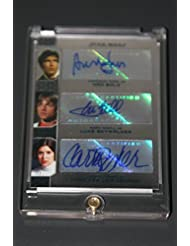 2014 Star Wars Chrome Perspectives Triple Autograph Card: Fisher, Ford, Hamill