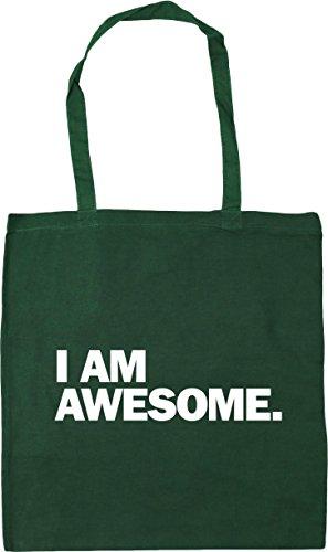 x38cm am I Shopping Green 10 Beach Tote Gym litres 42cm Bottle awesome Bag HippoWarehouse zI5qdxSz