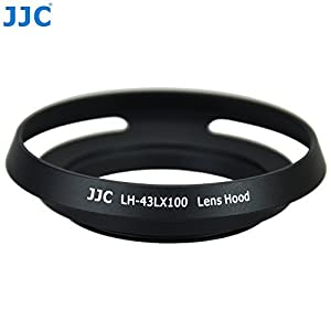 JJC LH-43LX100 Metal Lens Hood Shade for Panasonic LUMIX DMC-LX100 & LEICA D-LUX (Typ 109) Camera