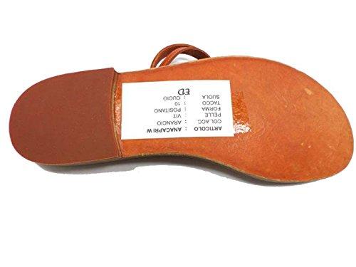 Zapatos Mujer EDDY DANIELE 37 Sandalias Naranja Cuero AW387 / AW388