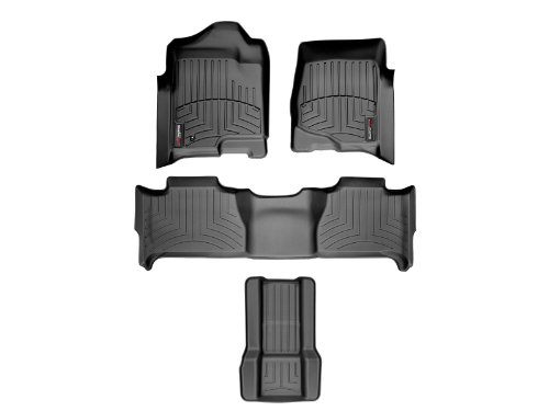 Weathertech 44066-1-2-7 Front rear and rear Floorliners w/ Center Aisle