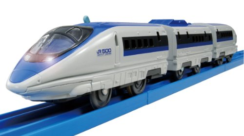 Tomica PraRail S-02 Series 500 Bullet Train With Light (Model Train) by Takara Tomy ()
