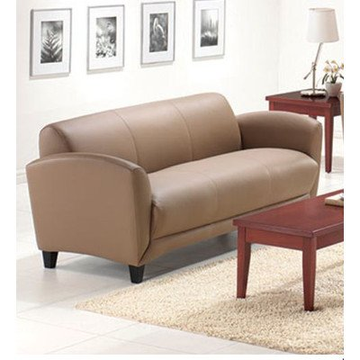 Manhattan Leather Sofa Upholstery: Latte