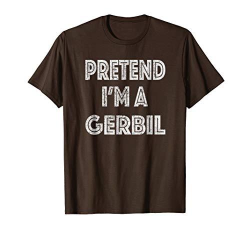 Retro Pretend I'm a Gerbil Halloween Costume T-Shirt