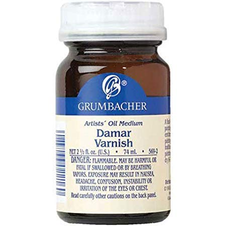 (Grumbacher - Damar Varnish - 2 oz. (Canadian Label))
