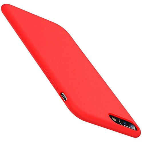 (Meweri iPhone 6 Plus/6S Plus Case, Liquid Silicone Rubber Phone Case for iPhone 6S/6 (iPhone 6 Plus/6S Plus, Red))