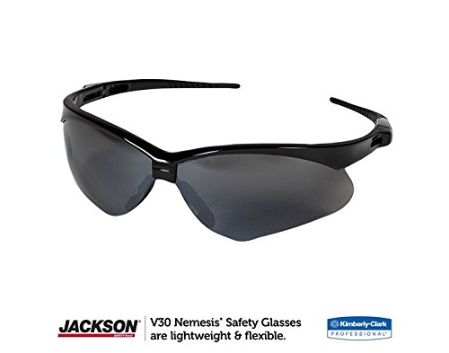 Jackson Safety V30 25688 Nemesis Safety Glasses 3000356 (3 Pair) (Black Frame with Smoke Mirror - Bargain Sunglasses Designer