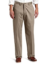 Lee mens Men's No Iron Relaxed Fit Flat Front Pant