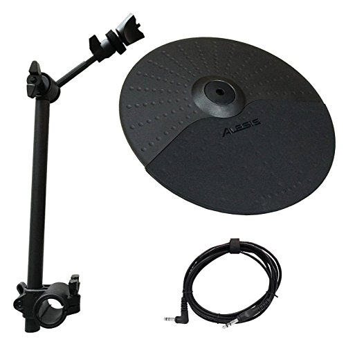 Dm6 Drum Electronic Alesis - Alesis Nitro Cymbal Expansion Set: 10 Inch Cymbal, Cymbal Arm, Rack Clamp and 10ft TRS Cable (10