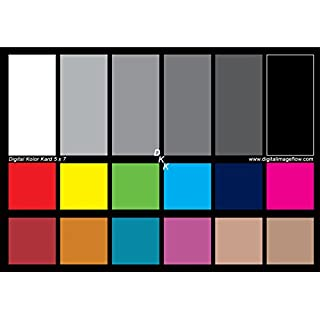 "DGK Color Tools DKK 5"" x 7"" Set of 2 White Balance and Color Calibration Charts with 12% and 18% Gray - Includes Frame Stand and User Guide"
