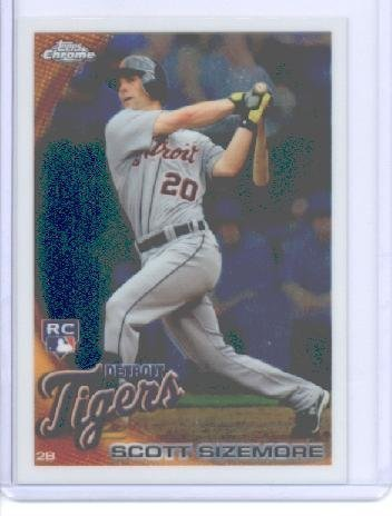 2010 Topps Chrome Baseball Card # 175 Scott Sizemore RC - Detroit Tigers (RC - Rookie Card) MLB Trading Card