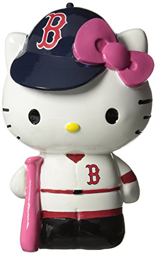 Boston Red Sox Hello Kitty Resin Bank (Renewed)