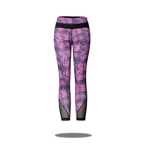 GooWell Women Girl High Waist Yoga Pants Tummy Control Inner Pocket Workout Yoga Leggings for Fitness Riding Running(K7,L)