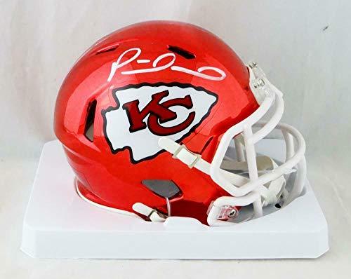Authentic Autographed Nfl Mini Helmet - Autographed Patrick Mahomes Mini Helmet - KC Chrome W Auth *White - JSA Certified - Autographed NFL Mini Helmets