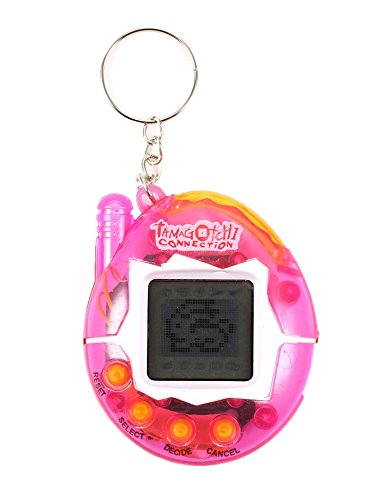 Zekpro Child Nostalgic Tamagotchi Electronic Virtual Cyber Tiny Pet Toy Game Machine (Transparent)