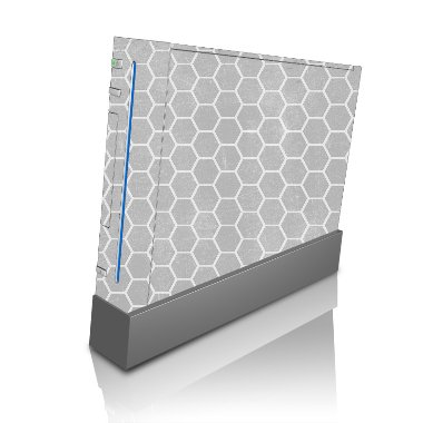 Vinyl Skin Wii - Honeycomb Honey Comb on Gray Concrete Background Wii Console Vinyl Decal Sticker Skin by Moonlight Printing