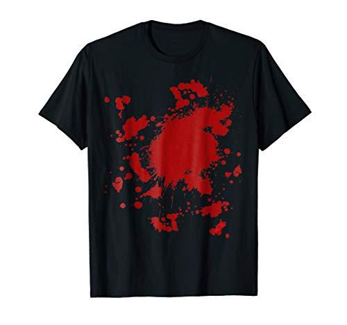 Fake Blood Splatter T-Shirt Gag Fancy Dress Men Women -