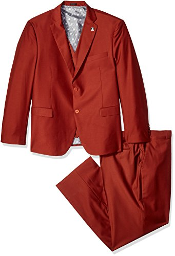 Stacy Adams Men's Big and Tall Bud Vested Slim Fit Suit, Rust, 56 Long by Stacy Adams