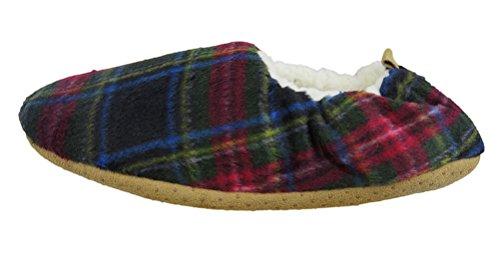 Calze Da Donna Con Fodera Vlly Calde E Scarpe Antiscivolo In Inverno (fba) Rosso / Verde