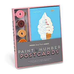 Robert Mahar for Knock Knock: Sweet Treats Paint-by-Number Postcards Kit