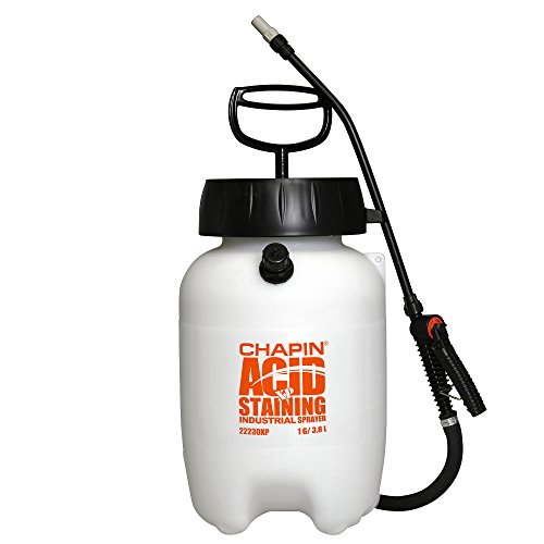 Chapin 22230XP 1-Gallon Industrial Acid Staining Sprayer for Acid Staining and Acid Cleaning