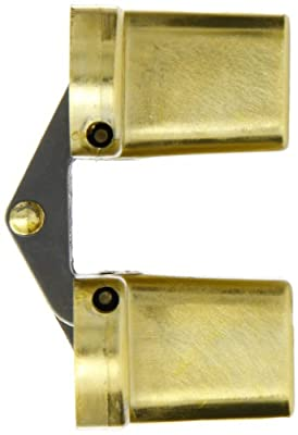 """SOSS Mortise Mount Invisible Hinge with 8 Holes, Zinc, Satin Brass Finish, 4-5/8"""" Leaf Height, 1-1/8"""" Leaf Width, 1-41/64"""" Leaf Thickness, #10 x 1-1/2"""" Screw Size"""