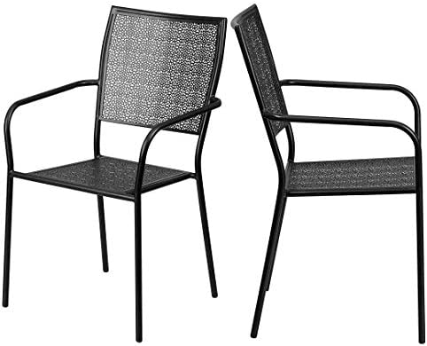 bec1f11d0e8c KLS14 Modern Design Lightweight Stacking Patio Chair Integrated Arms with  Transparent Flower Seat and Back Patterned Tubular Steel Frame Indoor- Outdoor Home ...