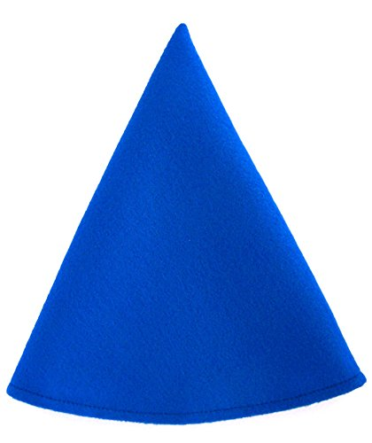 Red Gnome Hat Boys Costume Cap (Neon Blue) (Gnome Halloween Costume)