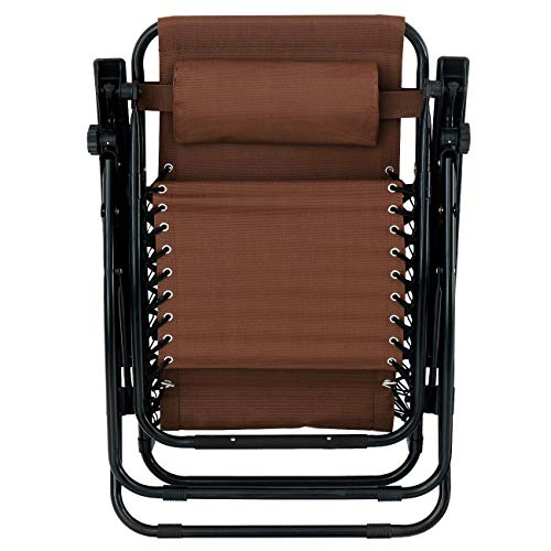 (Heavens Tvcz Zero Gravity Lounge Chairs Convenient Comfortable Quality Lawn Patio Adjustable 2PC Brown Recliner Outdoor for Camping, patios, Gardens, Pool Furniture, Beach Side Gatherings, Tanning, c)