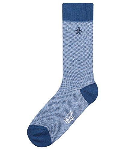 Original Penguin Men's Birdseye Non-Solid Dress Socks, Navy, One Size]()