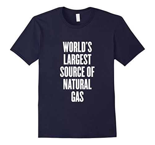 Mens World's largest source of natural gas Shirts XL Navy (Worlds Largest Cup)