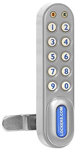 Salsbury Industries 3090SLV Electronic Lock Factory Installed on Designer Wood Storage Cabinet Door, Silver