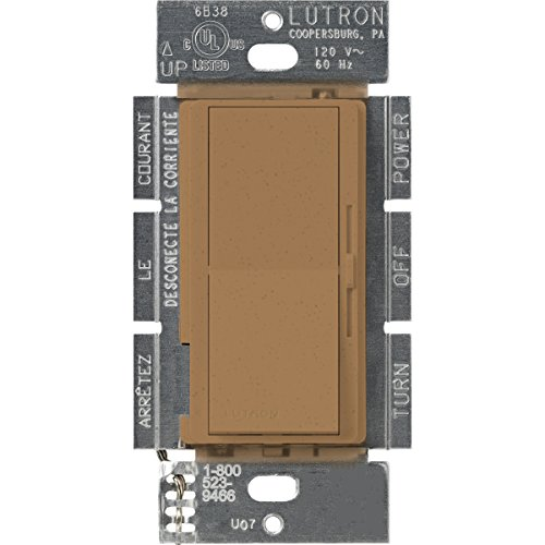 (Lutron DVSCELV-303P-TC Diva 300-watt 3-Way Electronic Low-Voltage Dimmer, Terracotta)