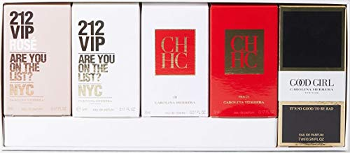 Carolina Herrera 5 Piece Miniature Set for - 212 Mini