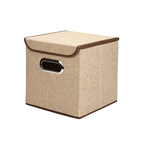 - Folding Cotton Linen Fabric Storage Closet Cubes Bins Kid Toy Storage Box Offices for Home Storage,Small,6