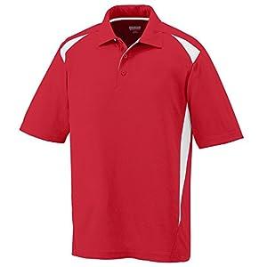Augusta Sportswear Mens Premier Sport Polo Shirt-Red/White-XL