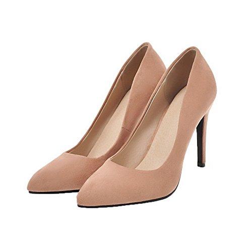 Chiuso Beige Weipoot Tirano Talloni Delle Pompe shoes Punta Smerigliati Indicata Solidi Donne T1g4wc4aRq