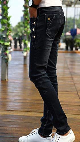 In Strech Classiche Denim Vintage Ragazzi Fashion Laisla Nero Morbido Eleganti Jeans Fit Da Aderenti Uomo Slim Pantaloni POzgw