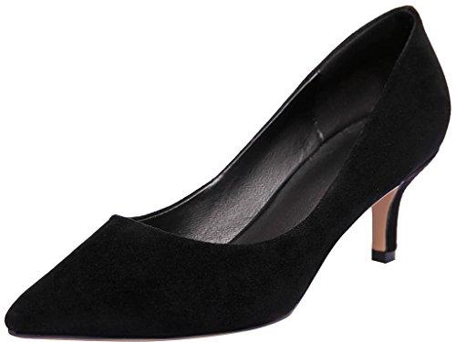 Calaier Kvinna Jtaaf Pekade Tå 6cm Stilett Slip-on Pumpar Skor Svarta