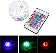 Luzes LED submersíveis Uonlytech com controle remoto RF, 16 cores, luzes de lago subaquáticas, 6 modos, luzes