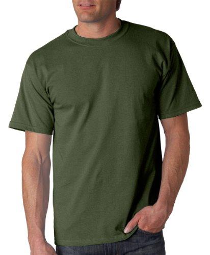 Gildan Mens Ultra Cotton 100% Cotton T-Shirt, Medium, Military Green