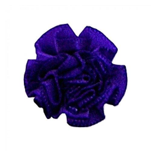 Berisford Ribbon Ruched Rosettes 465 Purple - per pack of 6