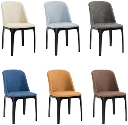YJT.cy Chaises de Salle à Manger Confortables; chaises de Cuisine en Cuir avec Pieds en métal Robustes Salle à Manger Salon Premium Waterproof (45 × 42 × 81 cm), Beige
