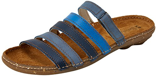 El Naturalista Women's N327 Multi Leather Blue Mixed/Torcal Flat Sandal Blue Mixed D8bucaRo5