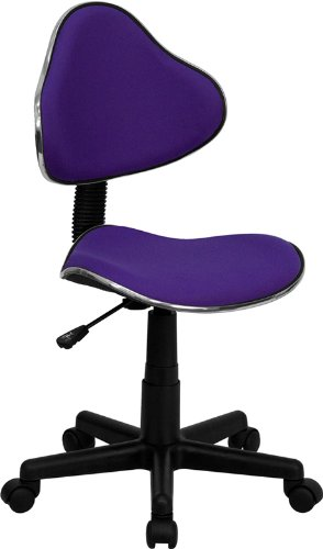 Flash Furniture Purple Fabric Ergonomic Swivel Task Chair