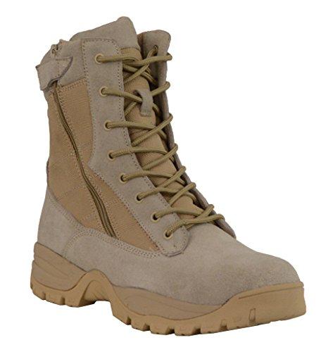 Black, Size 8.5 Milwaukee MBL9320-BLK-8.5 Womens Side Zipper Plain Toe Boots